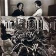 """Maruja Mallo y Josefina Carabias, con el cuadro """"Antro de fósiles"""""""