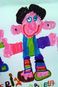 La abuela, dibujada por mi hija Estrella