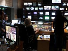 Un control de realización de la tele griega