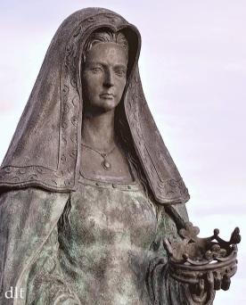 La estatua de Juana I, en Tordesillas