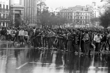 Imagen de la manifestación en el centro de Madrid